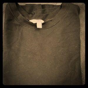 Split side, low-high sweatshirt